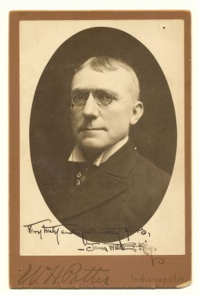 Scarce Photograph Signed, Cabinet size. JAMES WHITCOMB RILEY