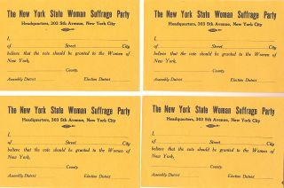Woman's Suffrage Supporter Form. Woman's Suffrage Broadsides