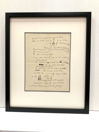 Rare and fine Rebus Autograph Letter Signed to famed economist John Maynard Keynes, 1 page, ...
