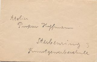 Autograph Letter Signed with two Illustrations, 3 pp on one 8vo sheet, n.p. but Vienna, n.d. With signed holograph envelope.