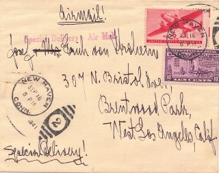 Autograph Letter Signed, 2 pp on one sheet of personalized stationery, 4to, New Haven, Conn, Sept. 16, 1941, with transmittal envelope.