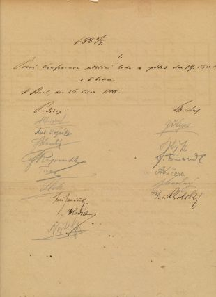"Interesting Manuscript Document Signed, in the Czech language folio, 2 pp, 11"" x 17"",n.p.,[Brno] 1888. LEOS JANACEK."
