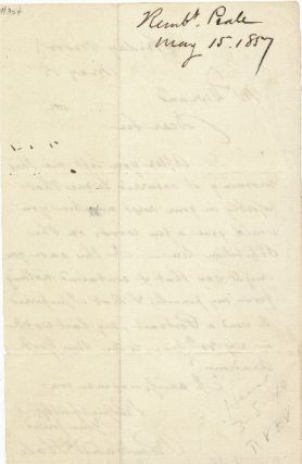 Autograph Letter Signed, 8vo, n.p., May 15, 1857.